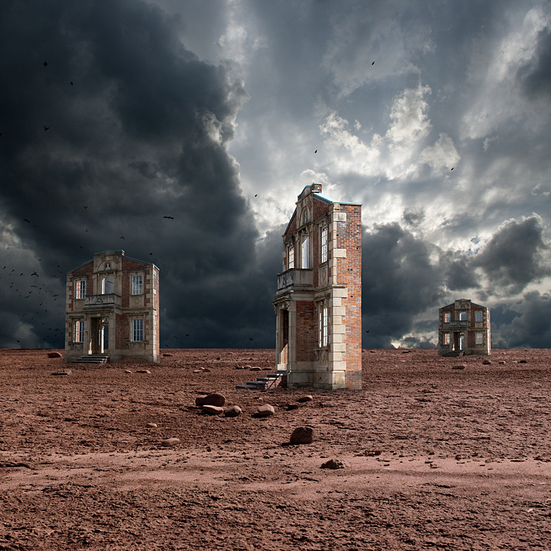Wasteland of Facades - Imaginary Worlds in Color