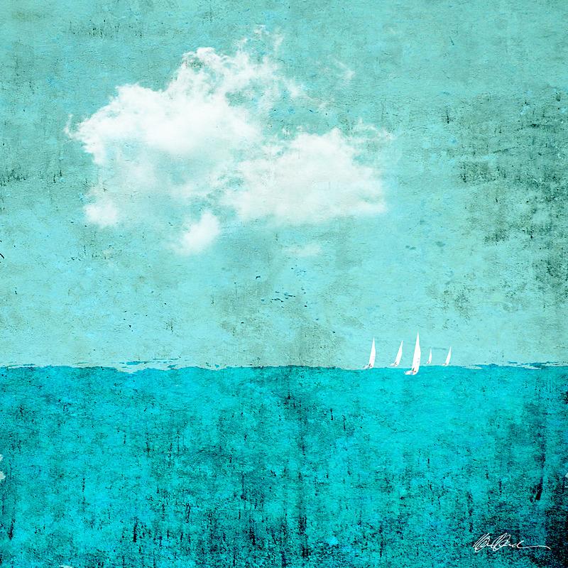 Sailboat Race in Aqua - PhotoCollage