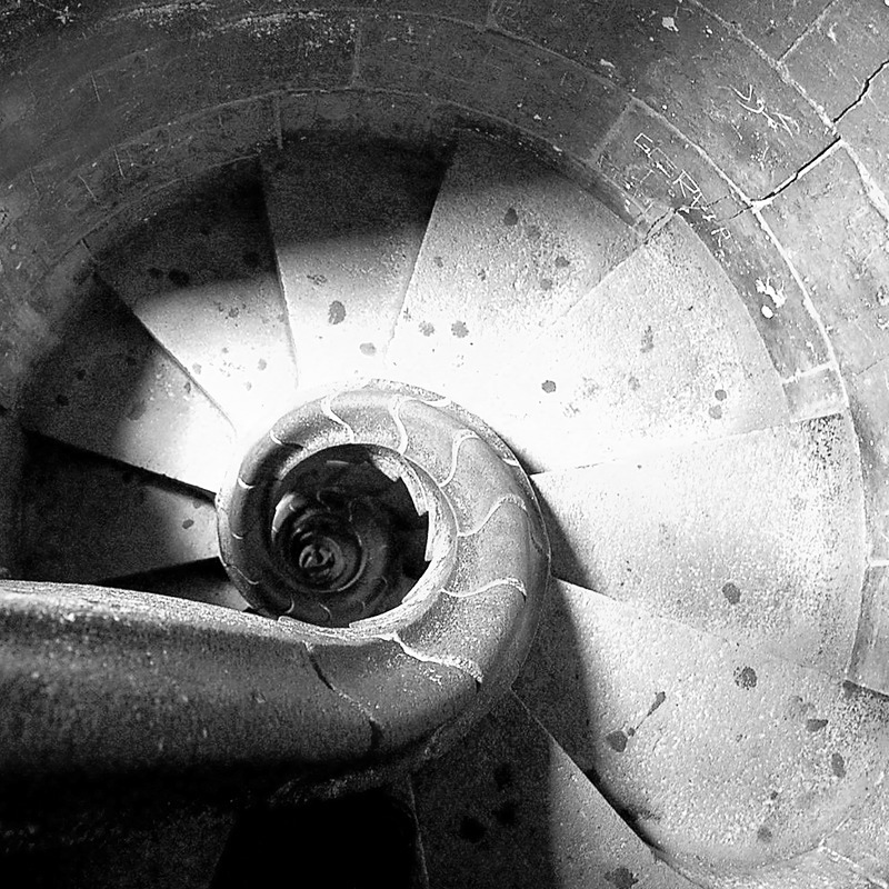 Tower Stairs No.2 - Travel - Black & White