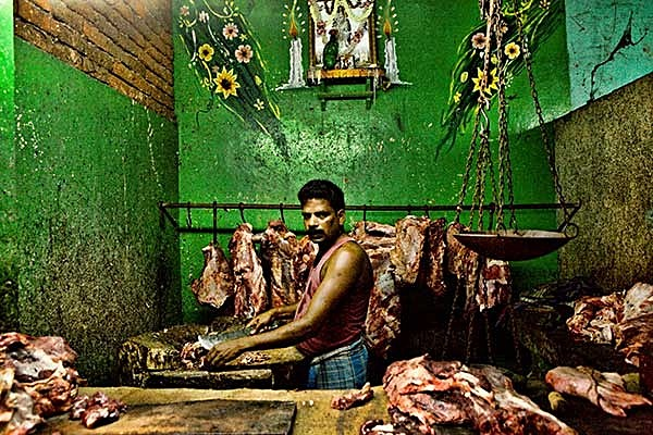 Butcher in Pondicherry Meat Market - Travel