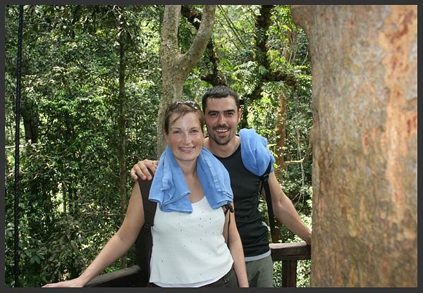 My wife 'colette and myself' - Borneo 2007