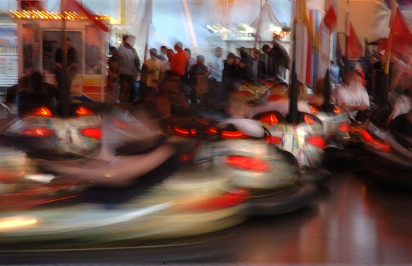 Dodgems - Impressionist / Abstract