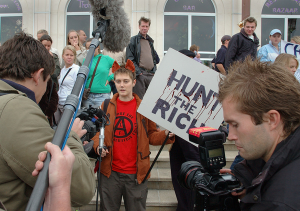 Hunt protestor - Protest
