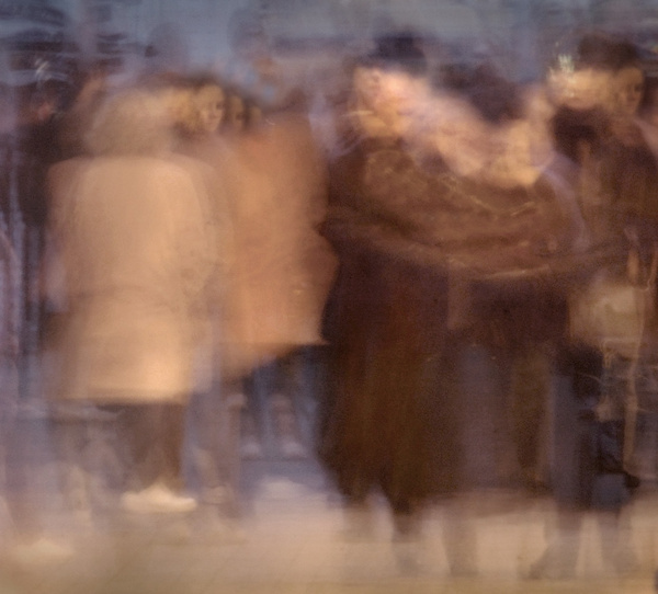 Pier crowds - Impressionist / Abstract