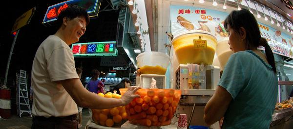 Street drinks - Hong Kong