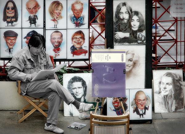 Pavement art - Street photography/people