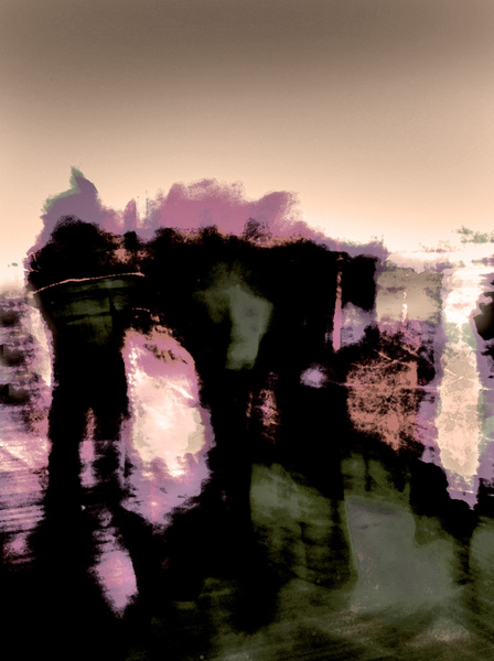 Leaving the pier - Impressionist / Abstract