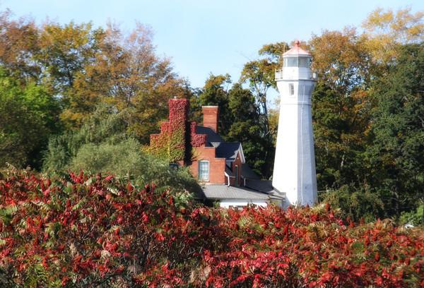 Enjoyable Port Sanilac Lighthouse In The Fall Download Free Architecture Designs Rallybritishbridgeorg
