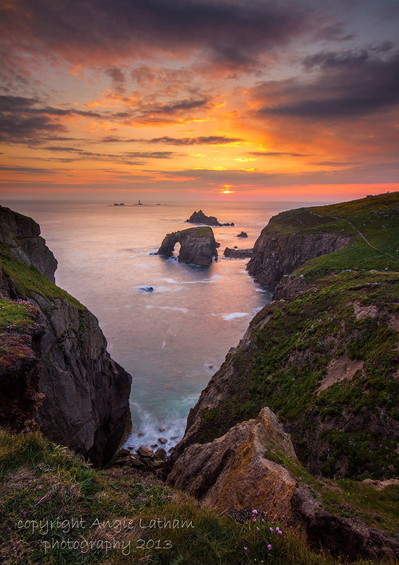 Arch Rock Sunset 1 - Celtic Cornwall