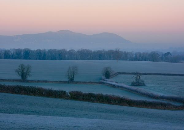A Frosty Start - The Malvern Hills