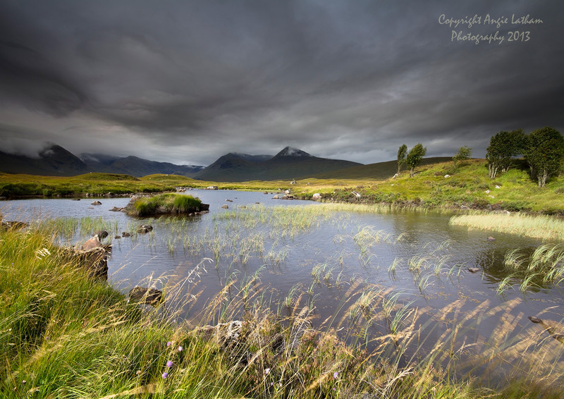 Storms across Black Mount - Highlands of Scotland