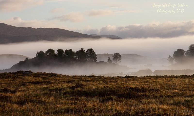 Autumn Mist on Rannoch Moor - Highlands of Scotland