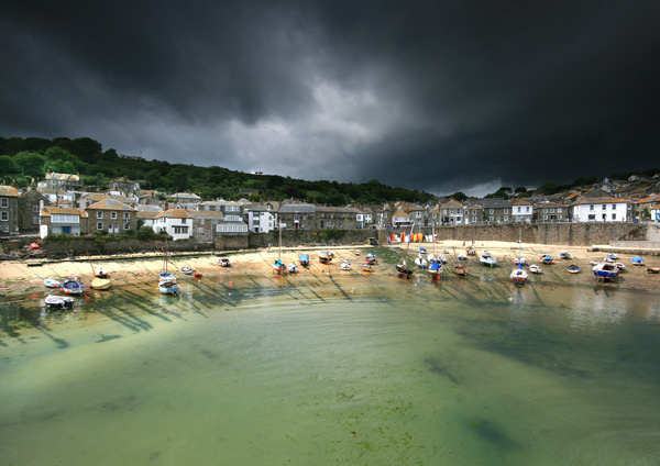 Storm in Mousehole - Celtic Cornwall
