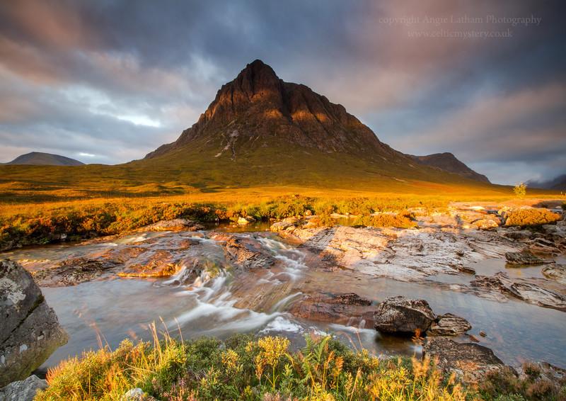 Ribbon of Gold - Buachaille Etive Mor - Highlands of Scotland