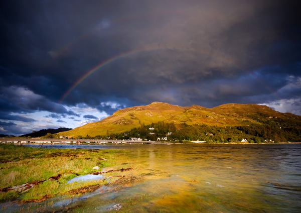 Dornie Rainbow - Highlands of Scotland