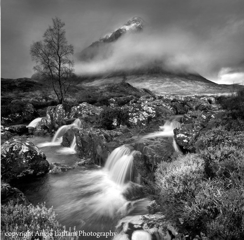 BW006 The Misty Mountain, Rannoch Moor - Scotland in Black & White