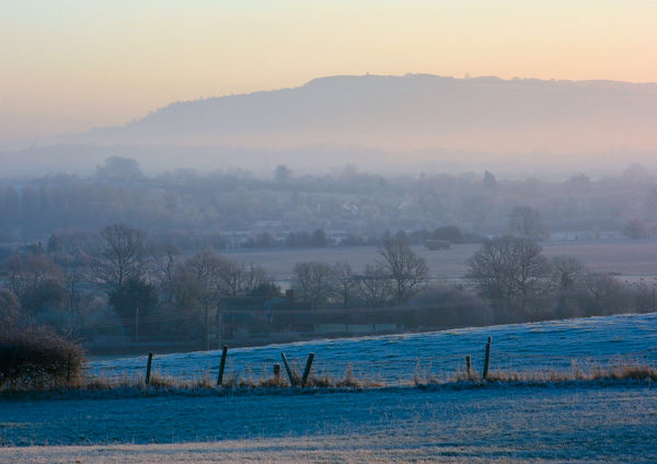 Winter on Bredon Hill - England & The Shires