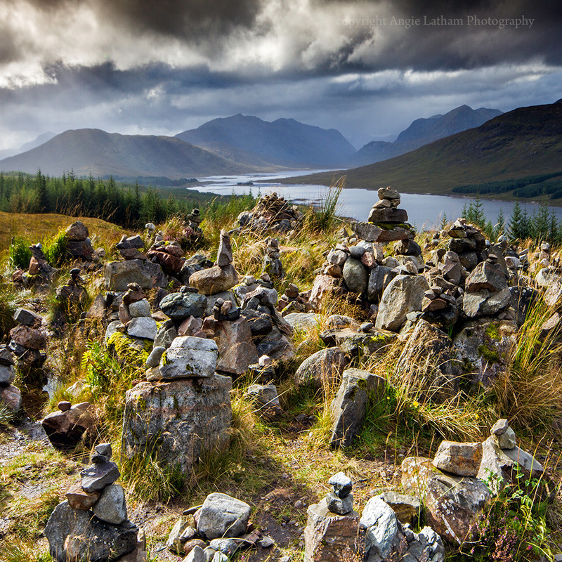 NEW! PS169 Hill of lonely Cairns, Glen Garry - Scottish Landscapes