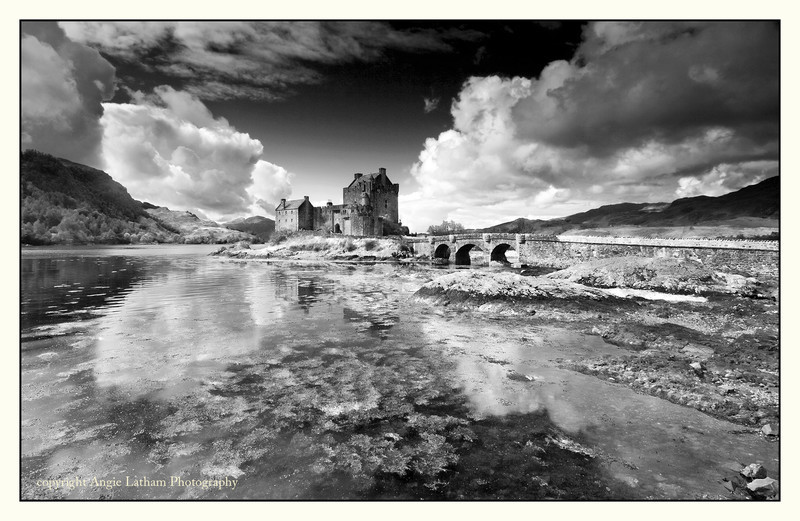 Eilean Donan Castle 3 - Highlands BW - Black & White