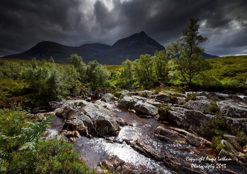 Sunburst on Rannoch Moor - Highlands of Scotland
