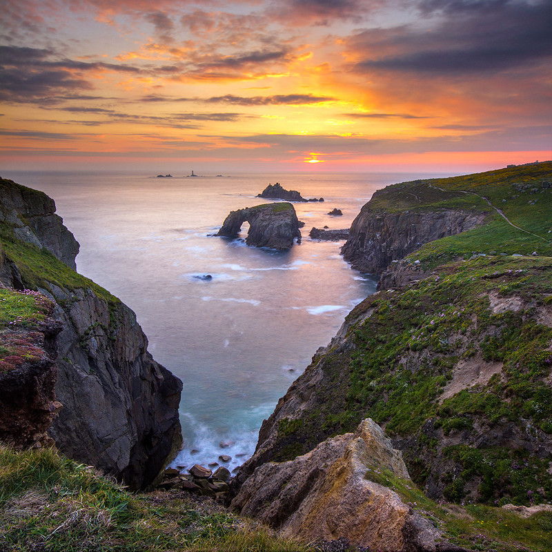 PS046 Landsend Sunset, Cornwall - Magical Britain