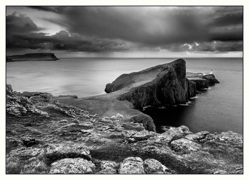 Neist Point Lighthouse - Skye BW - Black & White