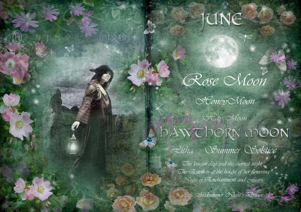 June - Hawthorn Moon - The Wheel of the Year