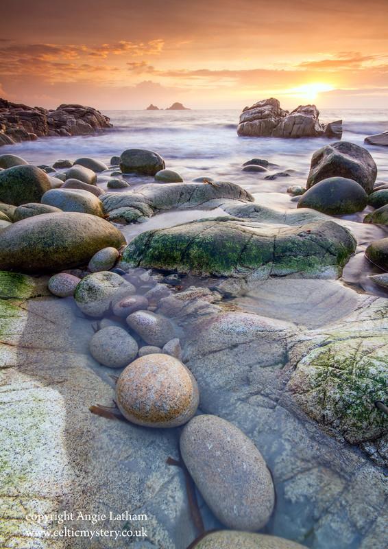 Porth Nanven Sunset 1 - Celtic Cornwall