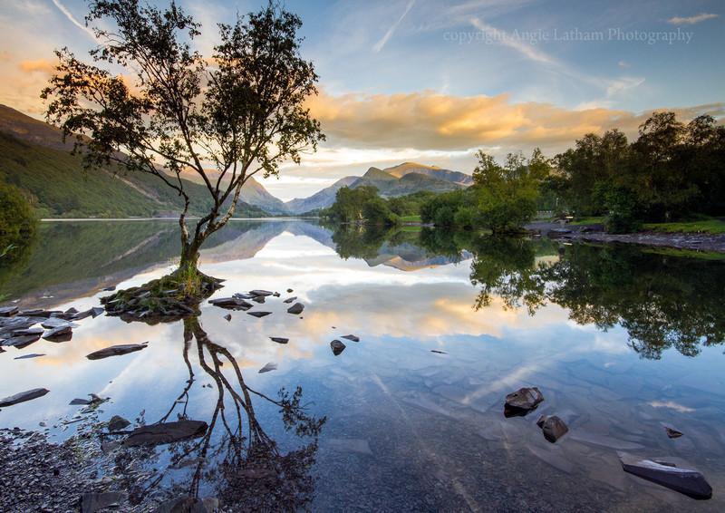 Snowdon Reflections on Llyn Padarn - Celtic Wales