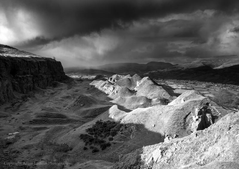 Brecon Escarpment 3 - Black & White