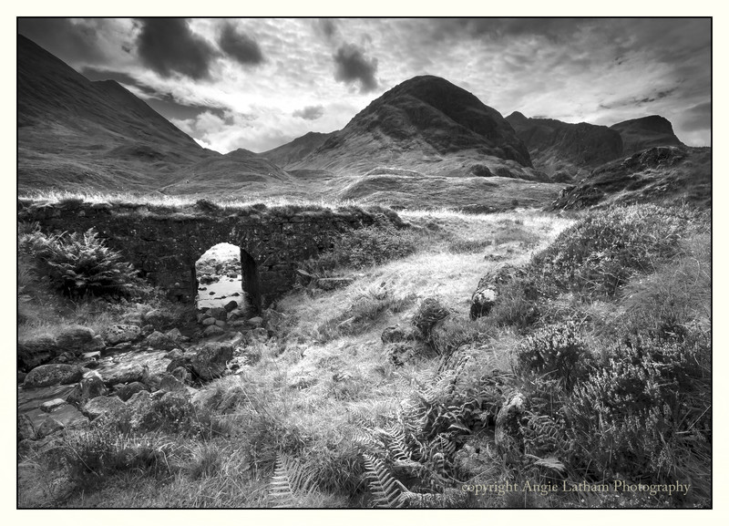 The Old Drover's Road - Glencoe BW - Black & White