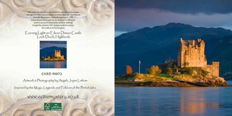 PS072 Evening Light on Eilean Donan Castle - Scottish Landscapes