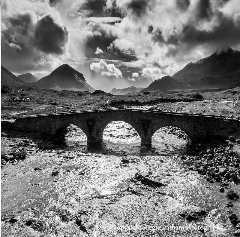 BW004 The old bridge at Sligachan - Scotland in Black & White