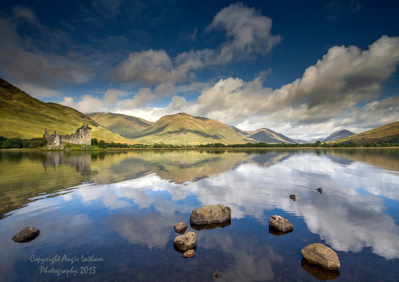 Summer reflections of Kilchurn Castle 2 - Highlands of Scotland