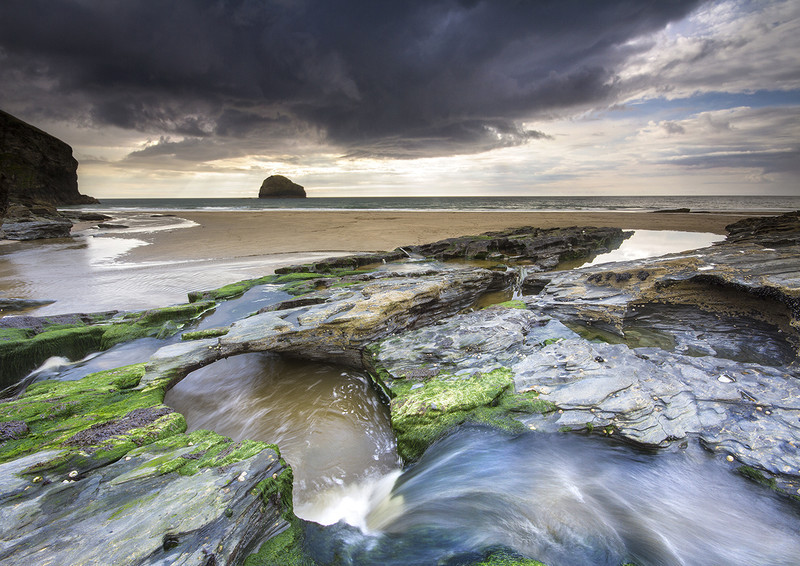 Trebarwith Strand Storm - Celtic Cornwall