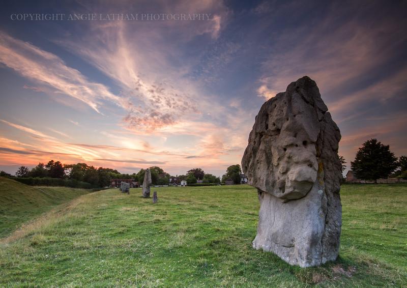 Avebury Sunset 2 - Ancient Sites