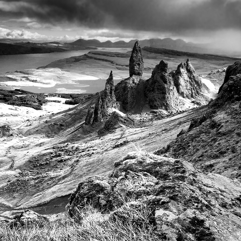 BW002 The Old Man of Storr - Scotland in Black & White