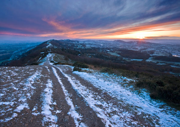 Winter Sunset - The Malvern Hills