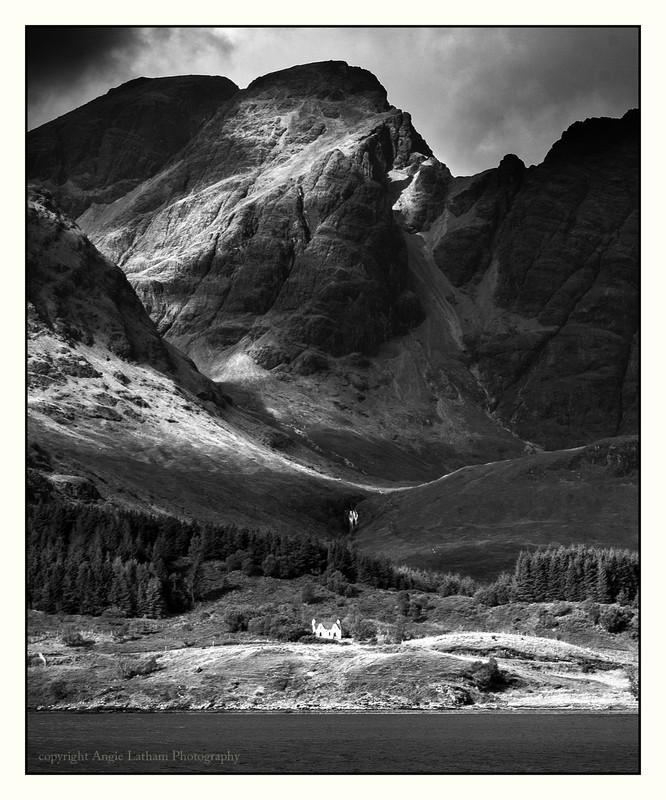 Black Cuillin Ridge - Skye BW - Black & White