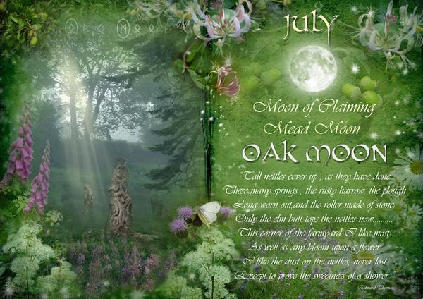 July : Oak Moon - The Wheel of the Year