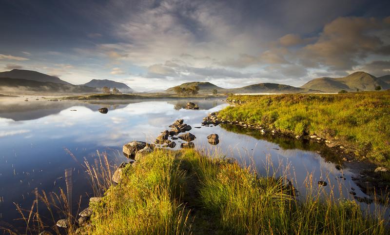 Autumn Light on Loch Barr - Highlands of Scotland