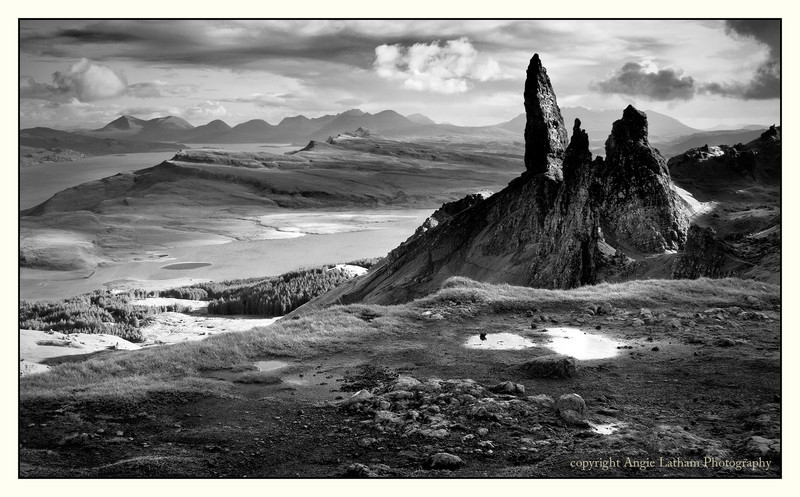 The Old Man of Storr 2 - Skye BW - Black & White