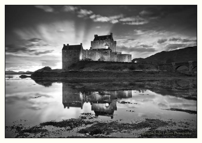 Eilean Donan Castle - Highlands BW - Black & White