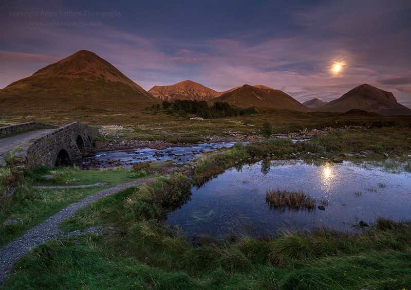 Red Cuillin Moonrise - Isle of Skye