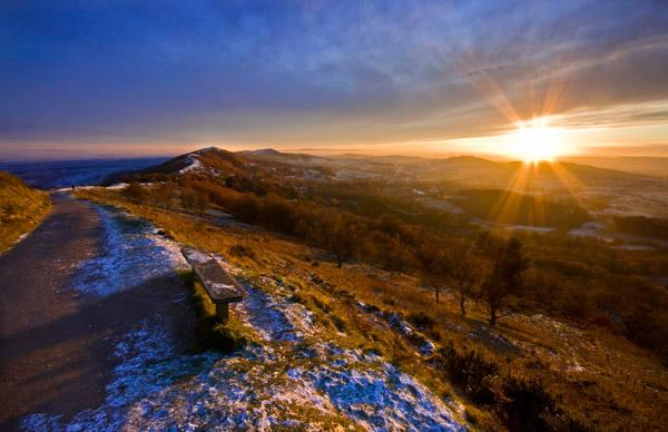 Winter Sunburst - The Malvern Hills