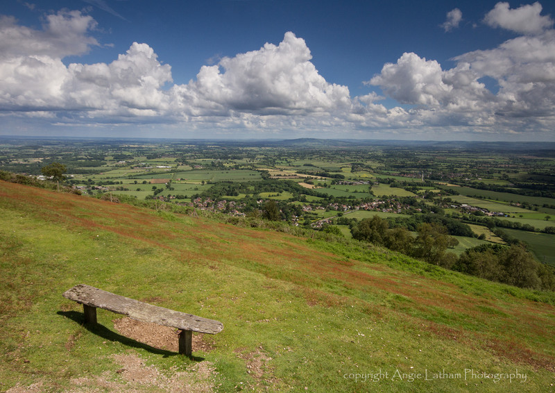 Bench with a view - The Malvern Hills