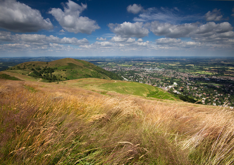 Lying in the Summer grass - The Malvern Hills