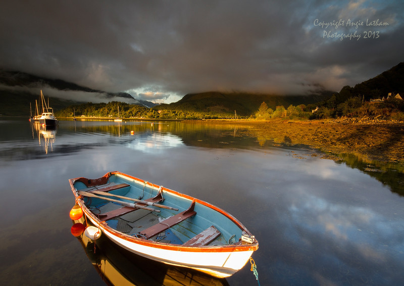 Golden Light on Loch Leven - Highlands of Scotland