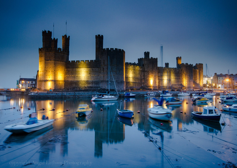 Caernarfon Castle Sunset 2 - Celtic Wales