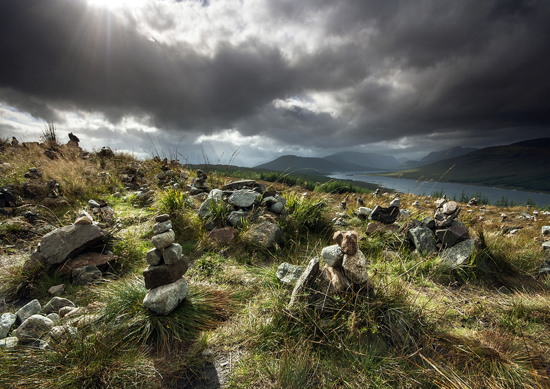 The Hill of Lonely Cairns - Highlands of Scotland
